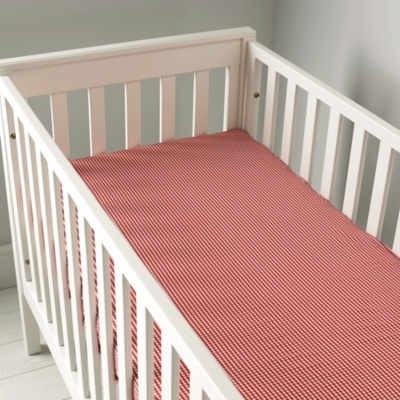 Gingham Cot Bed Fitted Sheet