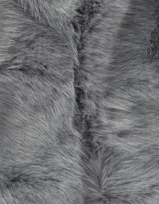 Stripe Faux-Fur Stole
