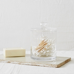 Tall Glass Storage Jar