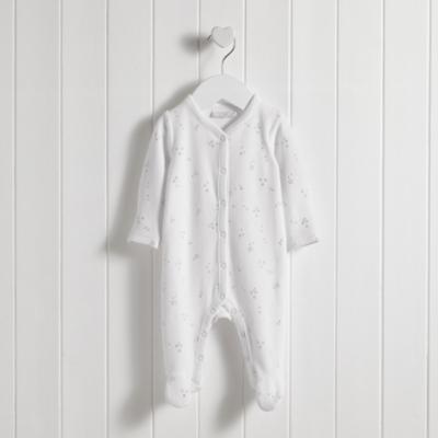 Silver Star Vellour Sleepsuit