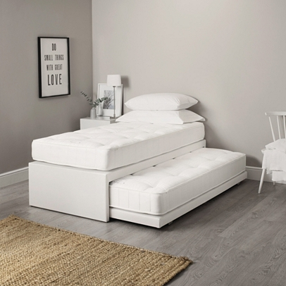 Single divan guest bed beds the white company uk for Divan trundle bed