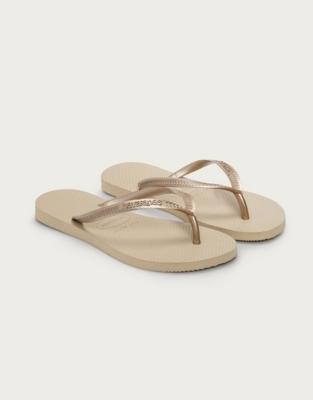 Havaianas Flip Flops - Light Gold