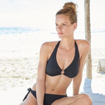 Halter Underwired Ring Detail Bikini Top