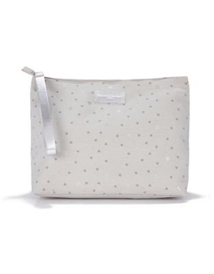 Heart Canvas Travel Pouch