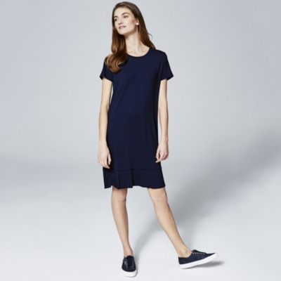 Hem Detail Jersey Dress