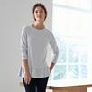 Hem Detail T-shirt - Pale Blue Marl