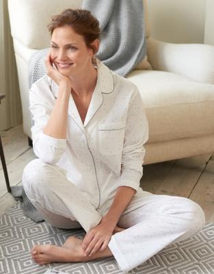Brushed Hearts Pajama Set