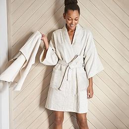 Herringbone Kimono Robe
