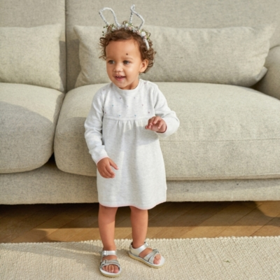 Heart Embroidered Knitted Dress - The White Company