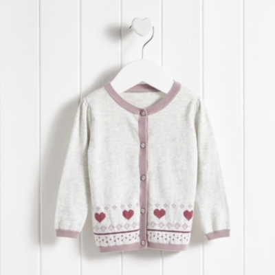 Heart Fairisle Cardigan