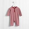 Henley Stripe Baby Sleepsuit