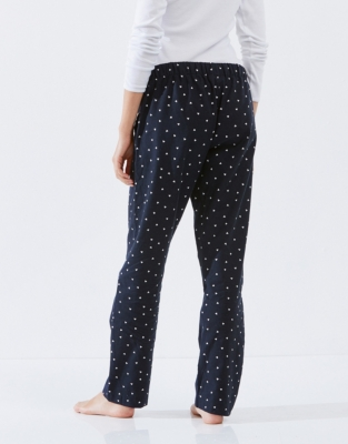 Brushed Heart Flannel Pajama Bottoms