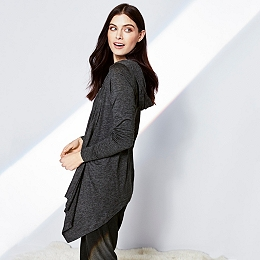 Hooded Jersey Cardigan