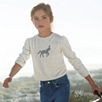 Girls' Horse Motif Sweater