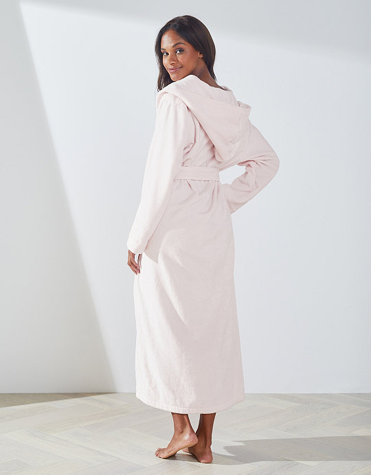 Hooded Velour Robe | Robes & Dressing Gowns | The White Company UK