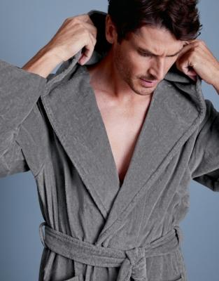 Unisex Hooded Velour Robe