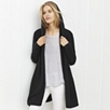 Hooded Swing Cardigan - Dark Charcoal Marl