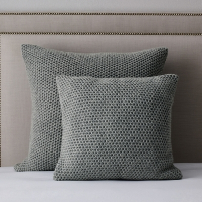 Holkham Throw & Cushion Covers - Silver Gray