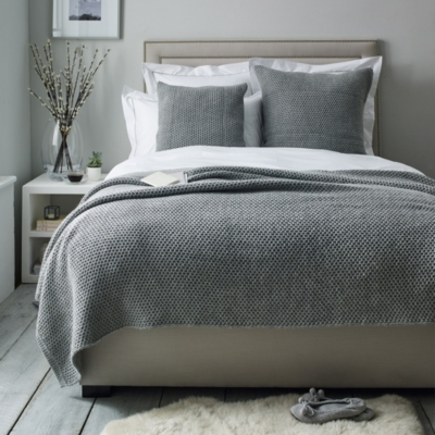 Holkham Throw - Silver Gray