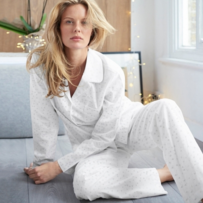 Heart Print Pajama Bottoms Sleepwear The White Company Us