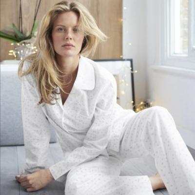 Heart Print Pajama Shirt