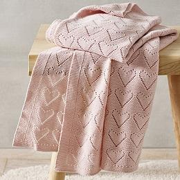 Heart Pointelle Blanket
