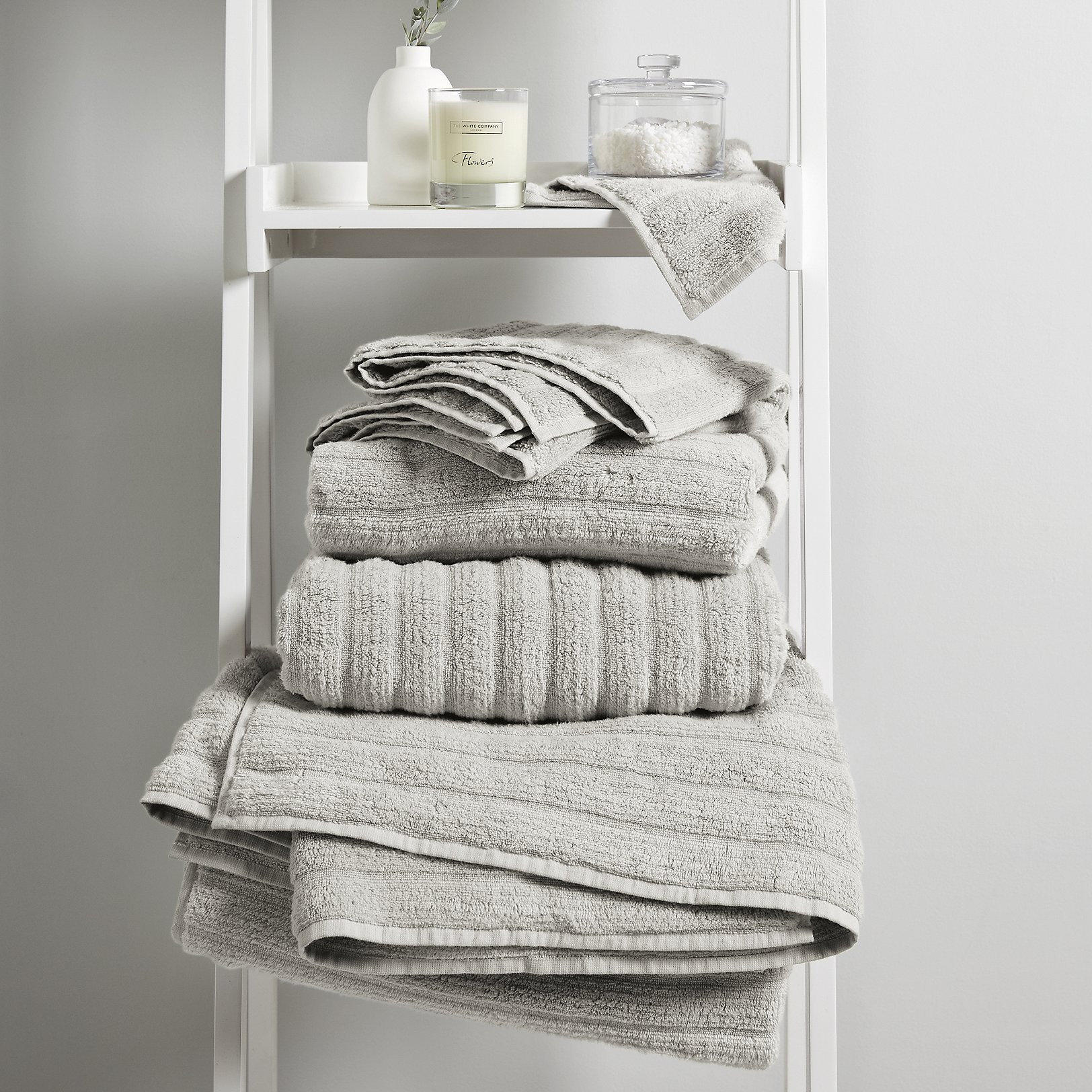 Hydrocotton Towels   Pearl Grey. Towels   Bath Sheets   Hand   Guest   The White Company