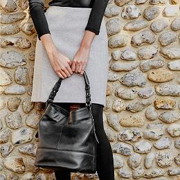 Herringbone A-Line Skirt