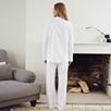 Brushed Herringbone Pajama Set