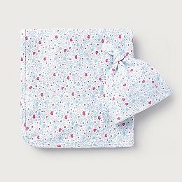 Star & Heart Print Blanket & Hat Set