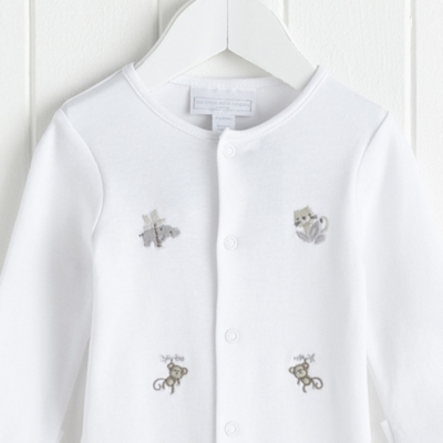 Hide and Seek Embroidered Sleepsuit