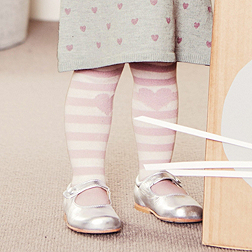 Stripe Heart Tights 1 pack