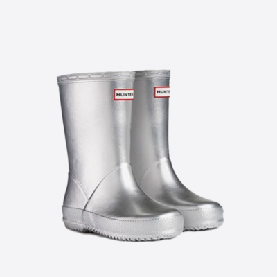Hunter Wellies - Silver