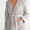Hooded Velour Robe