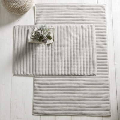 Rib Hydrocotton Bath Mat - Pearl Gray