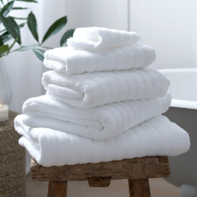 Rib Hydrocotton Towels - White