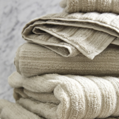Rib Hydrocotton Towels - Stone