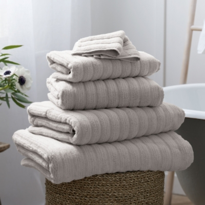 Rib Hydrocotton Towels - Pearl Gray