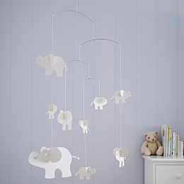 Indy Elephant Paper Mobile