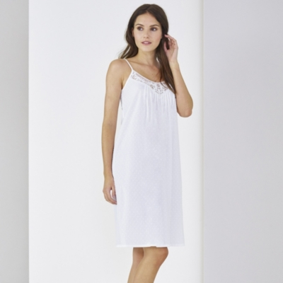 Inserted Lace Night Gown