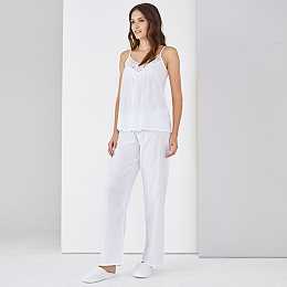 Inserted Lace Pajama Set