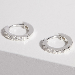 Silver Plated Infinity Earrings
