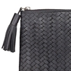 Interwoven Leather Clutch Bag