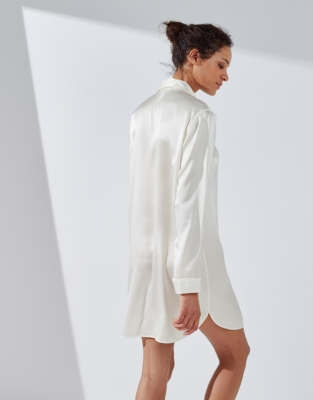 Silk Piped Nightshirt