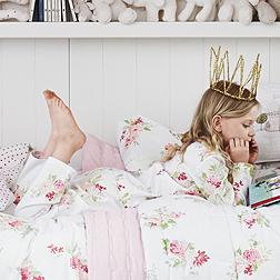 Isabella Floral Flannel Pyjamas - White