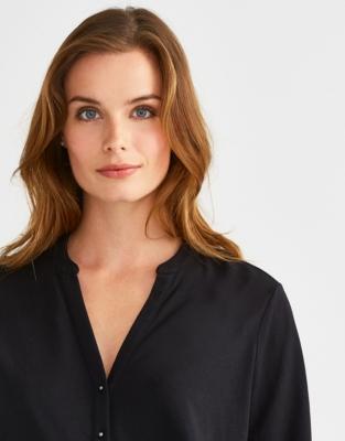 Jersey Button Detail Shirt