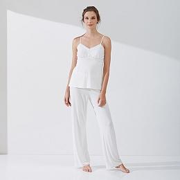 Jersey Button Detail Pajama Set