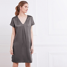 Jersey-Back Shift Dress