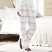 Oversized Check Flannel Pajama Bottoms - Pink/Gray