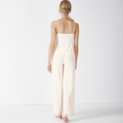 Jersey Lace Trim Pajama Set